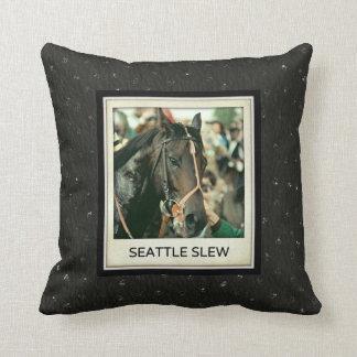 Seattle Slew Thoroughbred 1978 Pillow