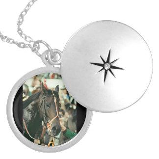Seattle Slew Thoroughbred 1978 Round Locket Necklace