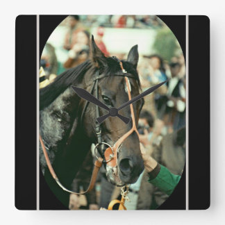 Seattle Slew Thoroughbred 1978 Square Wall Clock