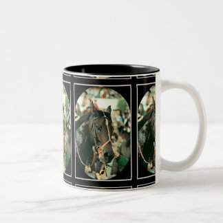 Seattle Slew Thoroughbred 1978 Two-Tone Coffee Mug
