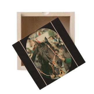 Seattle Slew Thoroughbred 1978 Wooden Keepsake Box