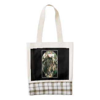 Seattle Slew Thoroughbred 1978 Zazzle HEART Tote Bag
