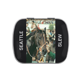 Seattle Slew Thoroughbred Racehorse 1978 Jelly Belly Candy Tins
