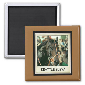 Seattle Slew Thoroughbred Racehorse 1978 Magnets