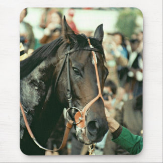 Seattle Slew Thoroughbred Racehorse 1978 Mouse Pad