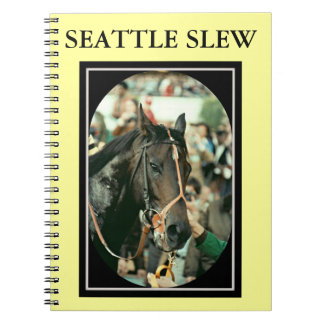 Seattle Slew Thoroughbred Racehorse 1978 Spiral Note Books