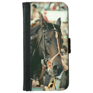 Seattle Slew Thoroughbred Racehorse 1978 iPhone 6 Wallet Case