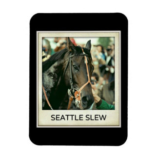 Seattle Slew Thoroughbred Racehorse 1978 Rectangle Magnets