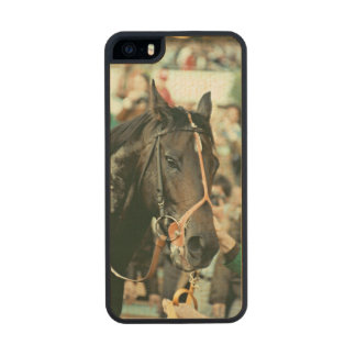 Seattle Slew Thoroughbred Racehorse 1978 Carved® Maple iPhone 5 Slim Case
