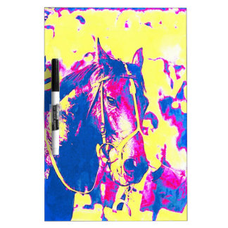 Seattle Slew Thoroughbred Racehorse Watercolor Dry-Erase Whiteboards