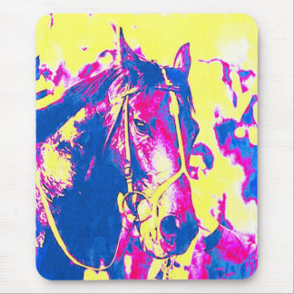Seattle Slew Thoroughbred Racehorse Watercolor Mousepads