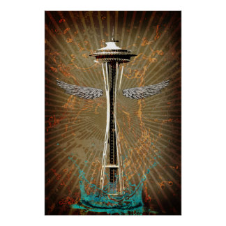 Seattle Space Needle Posters