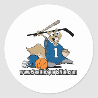 Seattle Sports Nut Classic Round Sticker