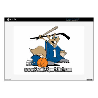 "Seattle Sports Nut Decal For 15"" Laptop"