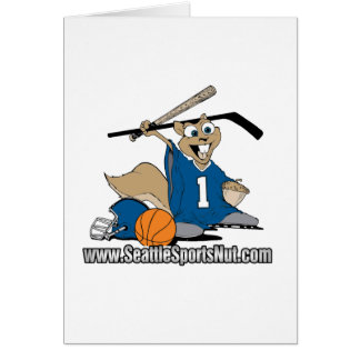 Seattle Sports Nut Greeting Card