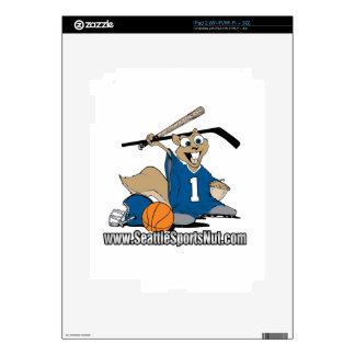 Seattle Sports Nut iPad 2 Decals