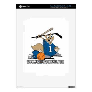 Seattle Sports Nut iPad 3 Skin