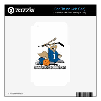 Seattle Sports Nut iPod Touch 4G Decal