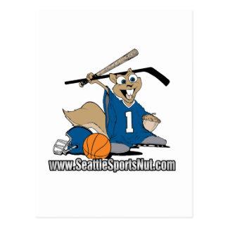 Seattle Sports Nut Postcard