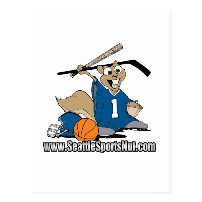 Seattle Sports Nut Postcard