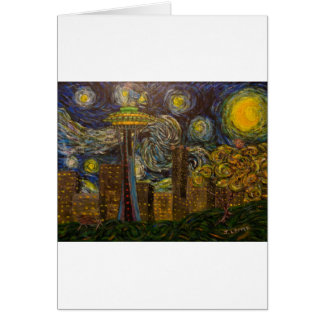 Seattle Starry Night (2015) Card