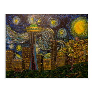 Seattle Starry Night (2015) Postcards