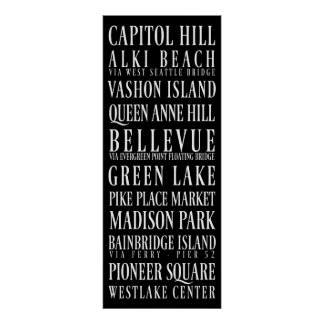 Seattle Subway Sign Print