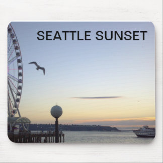 SEATTLE SUNSET MOUSE PAD