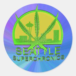 Seattle Superchronics Pegatina Redonda