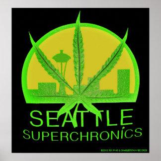 Seattle Superchronics Poster #4
