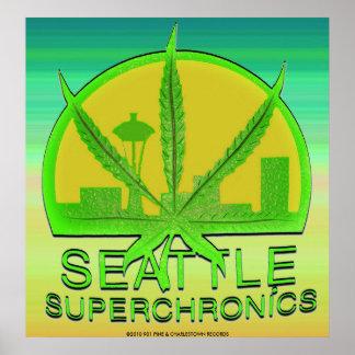 Seattle Superchronics Rasta Background Poster