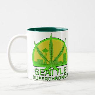 Seattle Superchronics Taza De Café De Dos Colores