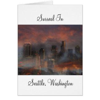 Seattle surrealista tarjeta de felicitación