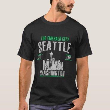 USA Themed Seattle T-Shirt