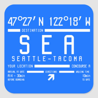 Seattle-Tacoma Airport Code Sticker