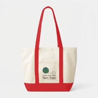 Seattle to Portland Yarn Train Impulse Tote_Color Canvas Bag