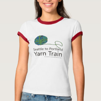 Seattle to Portland Yarn Train Ringer T-shirt