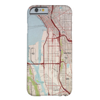 Seattle Topographic City Map Barely There iPhone 6 Case