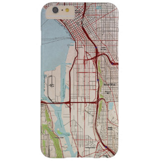 Seattle Topographic City Map Barely There iPhone 6 Plus Case