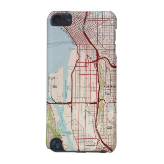 Seattle Topographic City Map iPod Touch (5th Generation) Cases