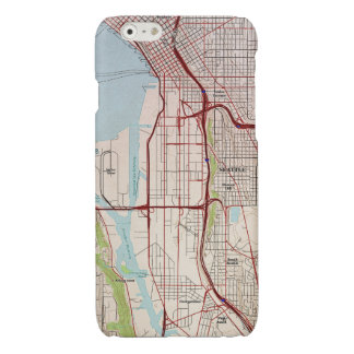 Seattle Topographic City Map Glossy iPhone 6 Case