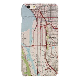 Seattle Topographic City Map Glossy iPhone 6 Plus Case