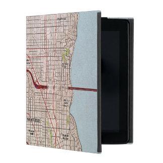 Seattle Topographic City Map iPad Folio Case