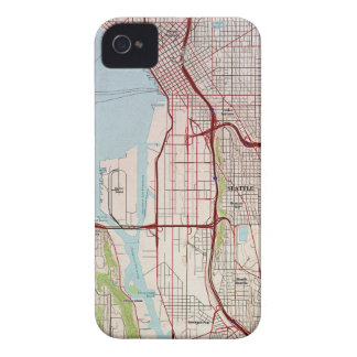 Seattle Topographic City Map iPhone 4 Cover