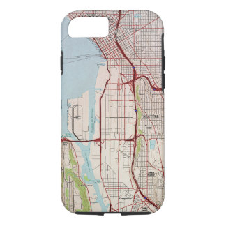 Seattle Topographic City Map iPhone 8/7 Case