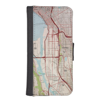Seattle Topographic City Map iPhone SE/5/5s Wallet Case