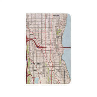 Seattle Topographic City Map Journal