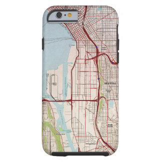 Seattle Topographic City Map Tough iPhone 6 Case