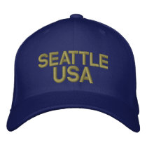 Seattle USA Embroidered Baseball Hat