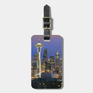 Seattle vista del parque de Kerry en la reina Anne Etiquetas Para Maletas